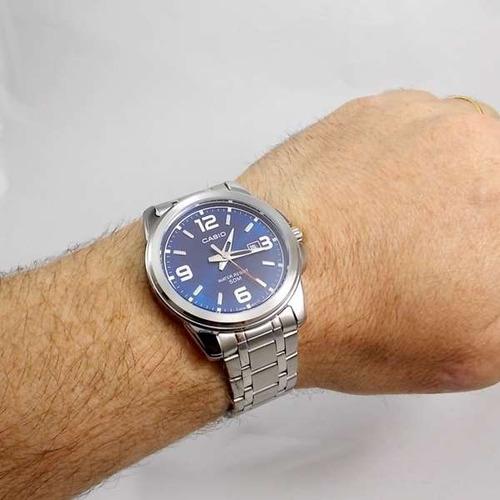 73e8b4ba06b Relógio Masculino Casio Mtp-1314d-2a Analógico Wr50 Aço Inox - R ...