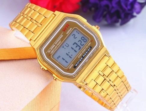 4c2fc74f0bc Relógio De Pulso Masculino Casio Wr Gold Dourado Importado - R  89 ...