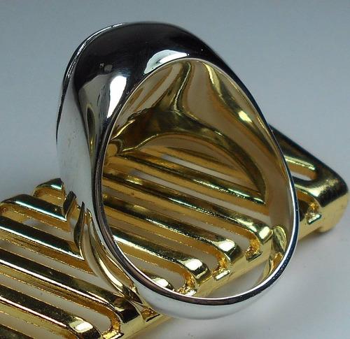 masculino caveira anel prata
