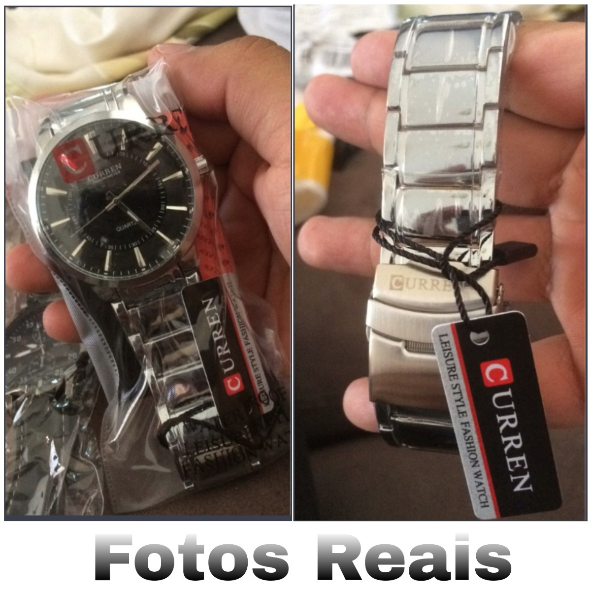 297c630d5ef Carregando zoom... relógio masculino prata barato curren importado original