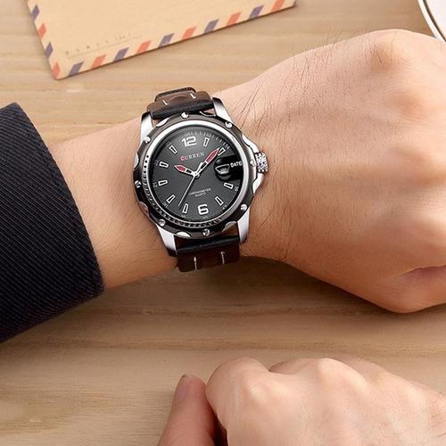 80e8e0b3491 masculino curren relógio. Carregando zoom... relógio masculino curren  esporte fino original em oferta