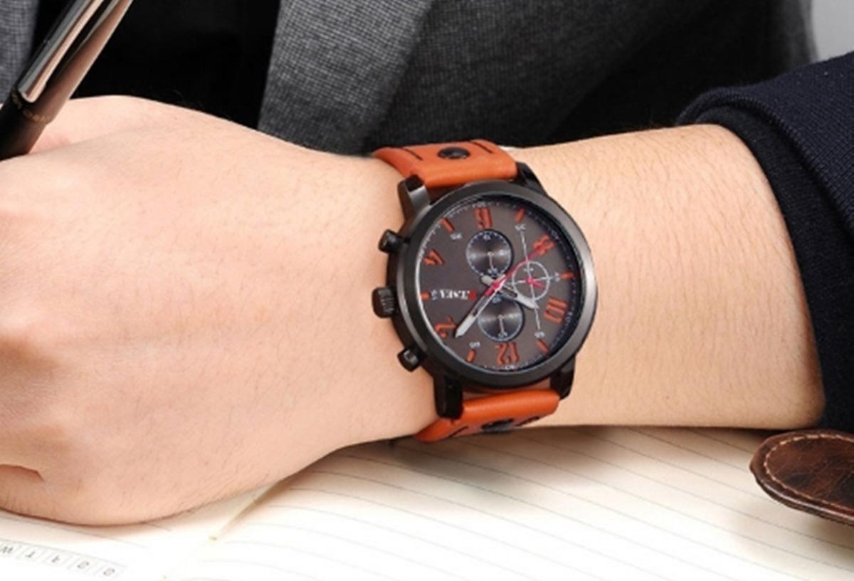 de86a66572f Relógio Masculino De Luxo Curren 81921 Original 12xs juros - R  89 ...