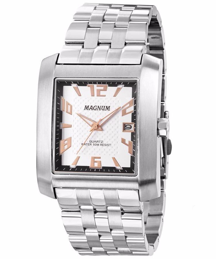 c7ec2f52bdb Relógio Masculino Quadrado Magnum Ma21884q Frete Gratis - R  334