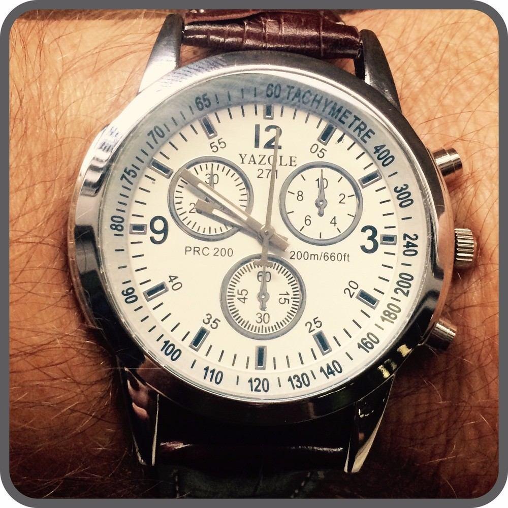 deaf12167ff Carregando zoom... relógio social masculino de marca yazole (importado)  barato