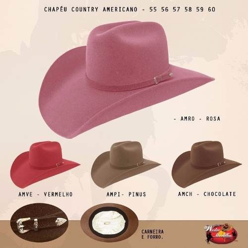 Chapéu Cowboy Country Australiano Masculino Feminino Moda - R  68 f45538f6732