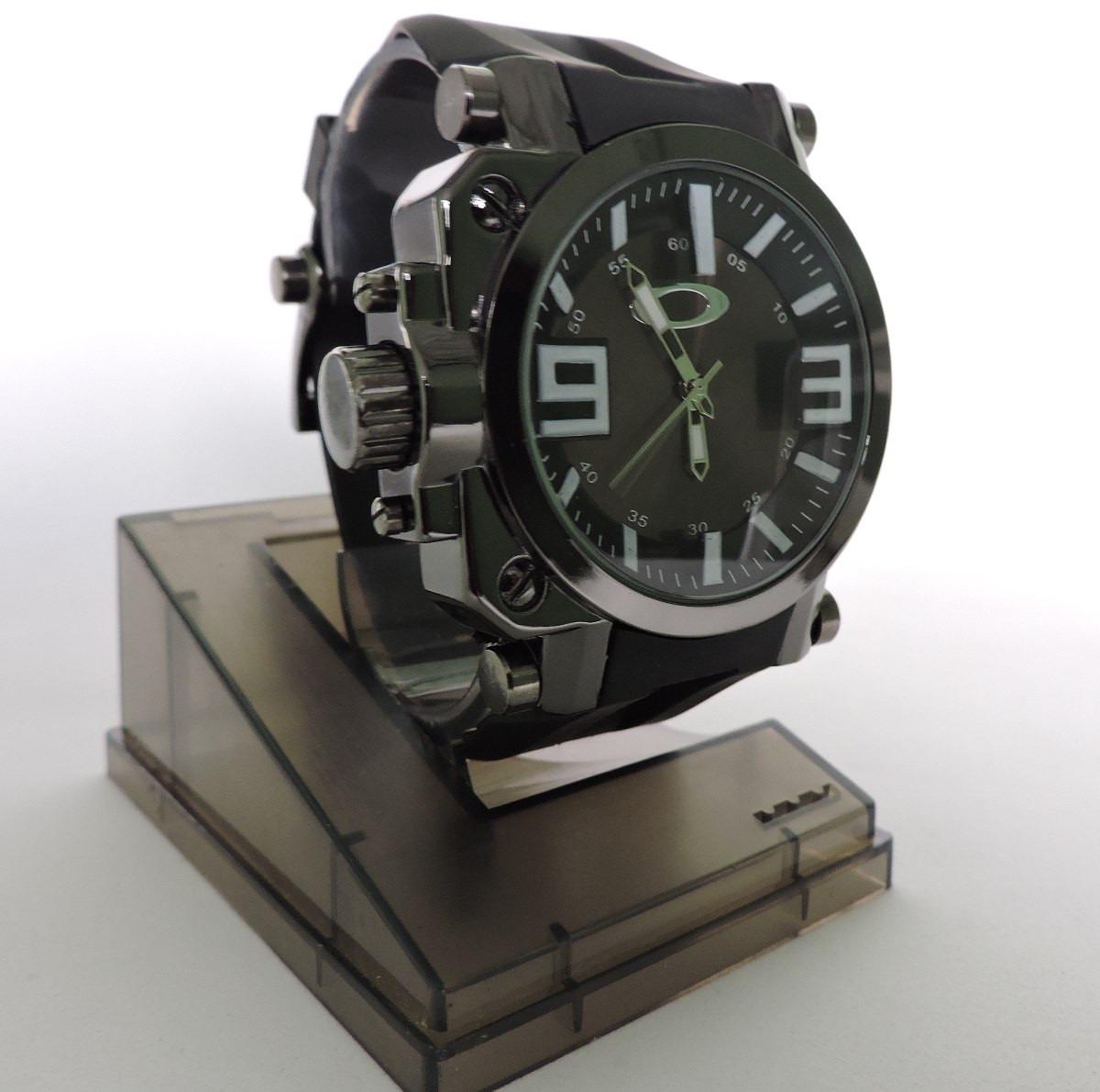 22973247a0e Carregando zoom... relógio masculino oakley gearbox esporte preto