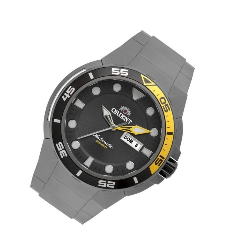 51f47e1350d Carregando zoom... relógio masculino orient automático titânio kit 469ti003