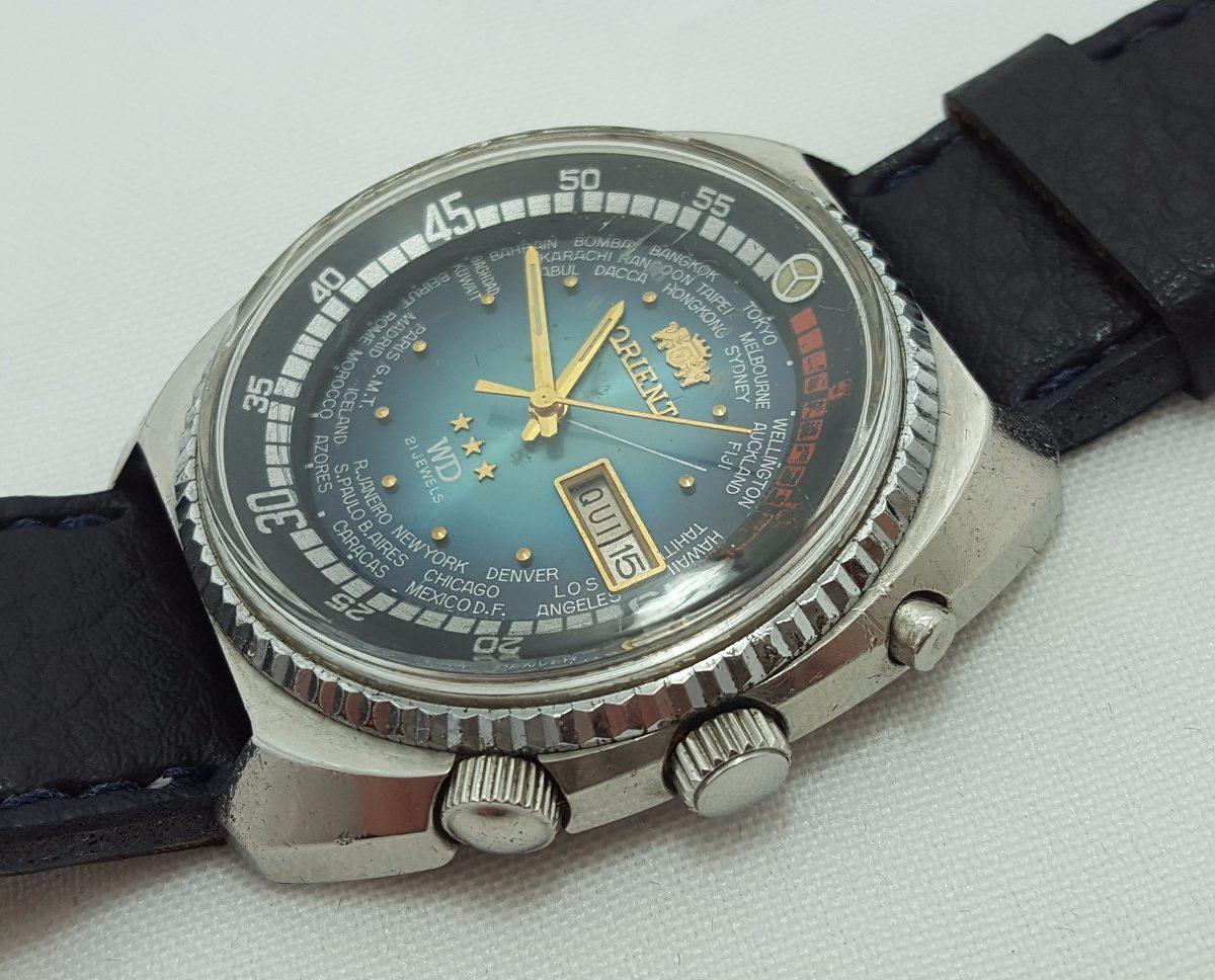 182053c5124 Carregando zoom... relógio de pulso masculino orient 3 chaves hora mundial