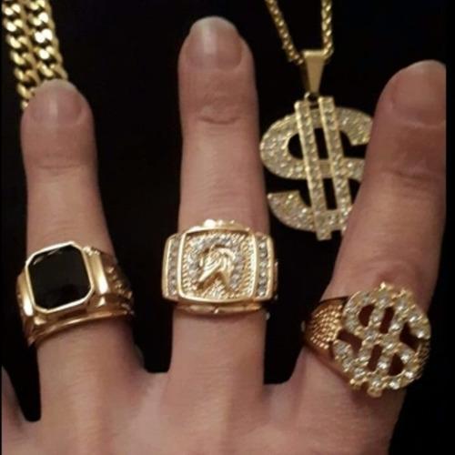 masculino ouro anel