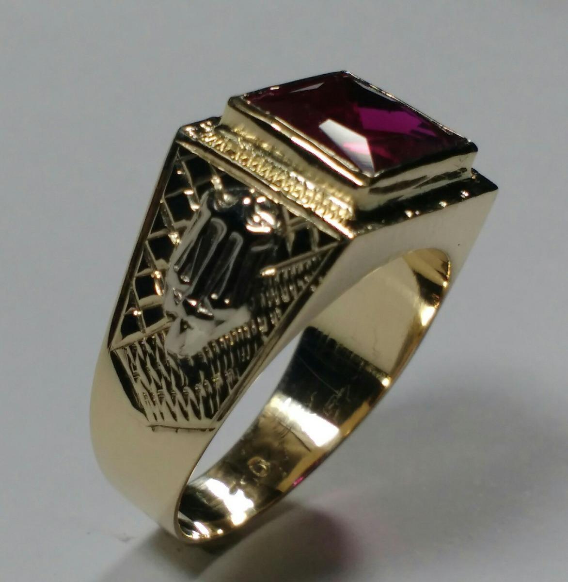 Anel De Formatura Direito Masculino Em Ouro 18k 7gramas