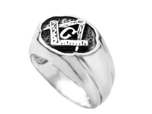 masculino prata anel maçonaria