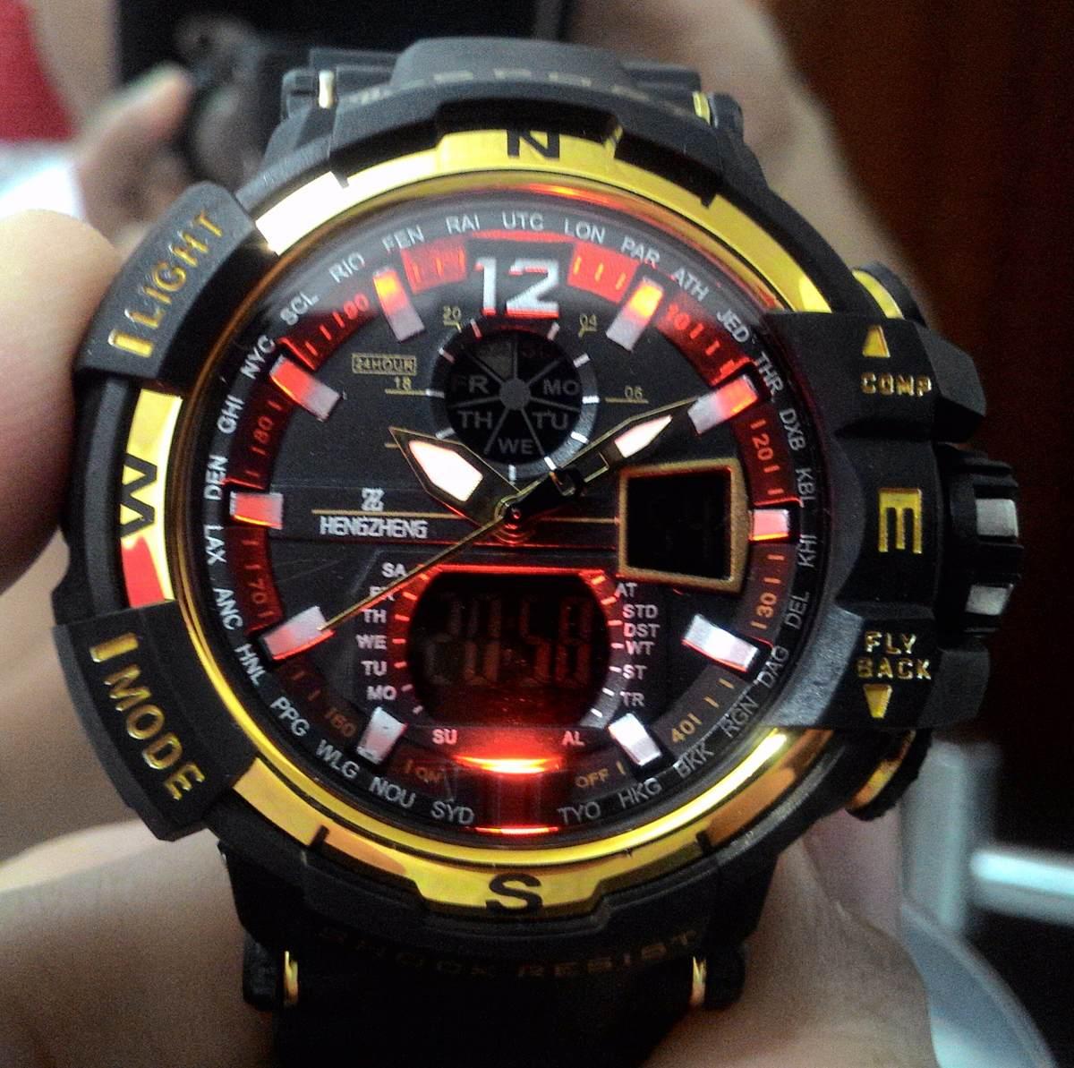 76c9eb7a97f Carregando zoom... relógio shock masculino pulso z sport 490 digital  analogico