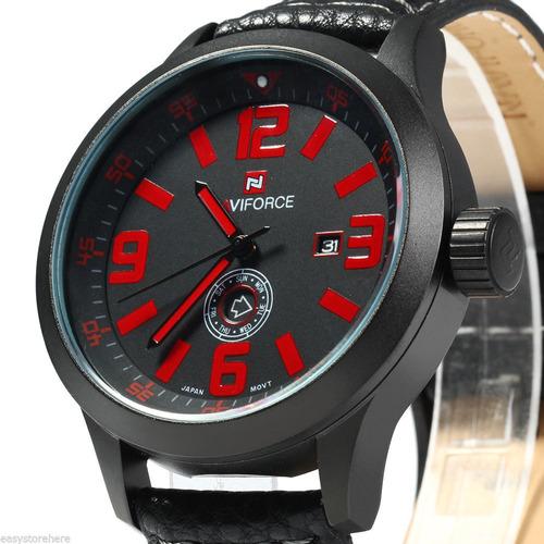 f9dc68d27ff masculino pulso relógio. Carregando zoom... relógio masculino de pulso  naviforce nf9057 quartzo semana