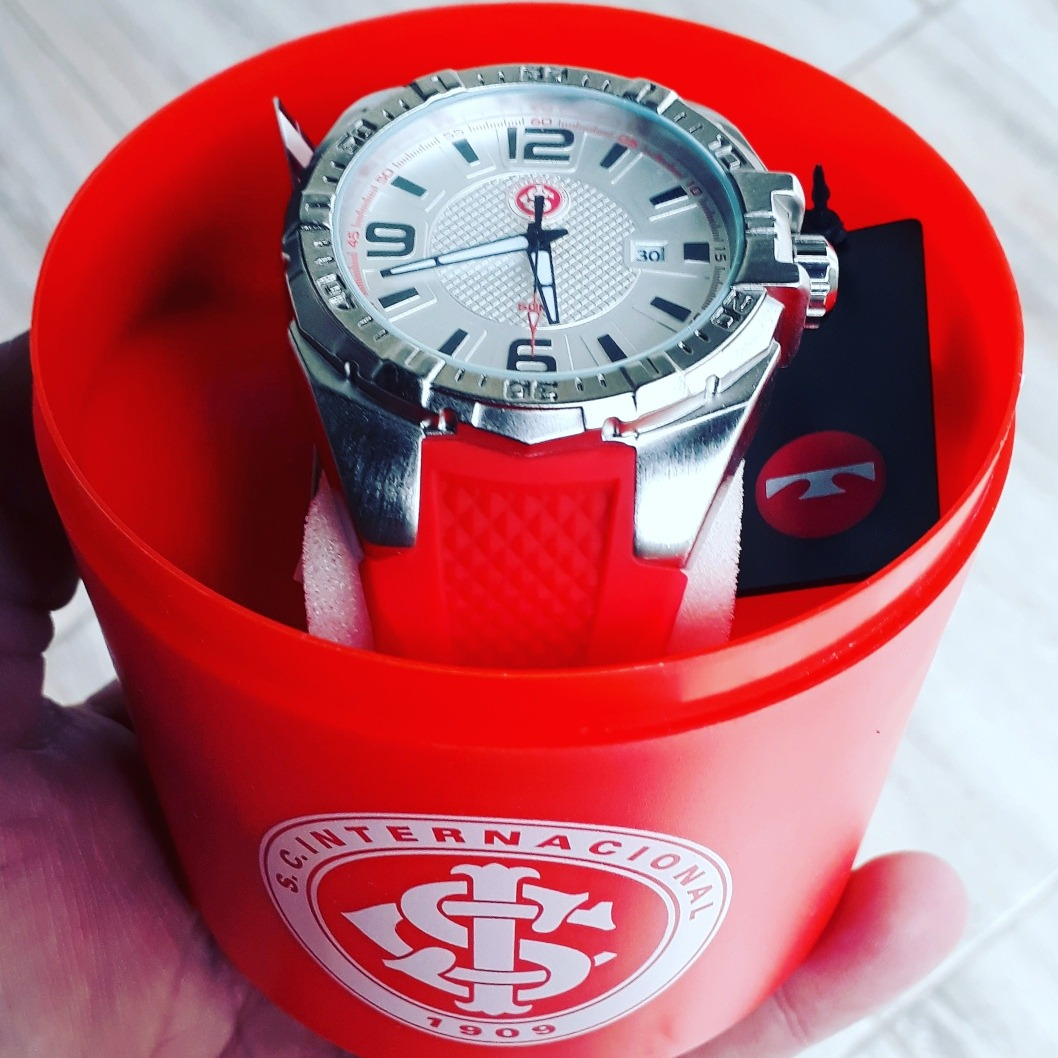 9ef6c32cd71 Carregando zoom... relógio masculino clubes technos analógico internacional  50m