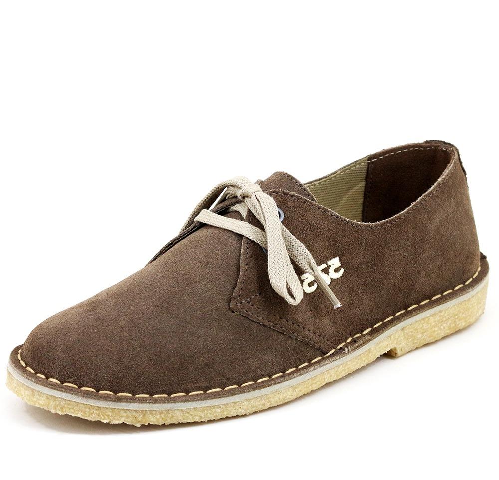 719be55325b Carregando zoom... 3 sapato masculino tênis camurça cor cafe tipo 775 crepe