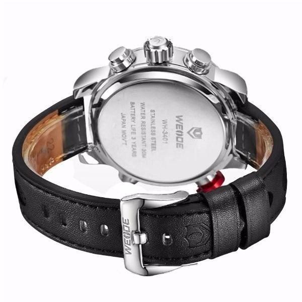 e8c4ee7ec28 relógio masculino weide anadigi wh-3401-c prata e preto · relógio masculino  weide · masculino weide relógio