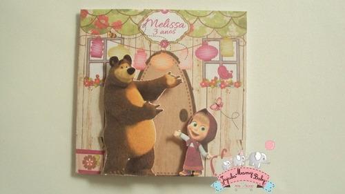 masha e o urso convite 10 unidades