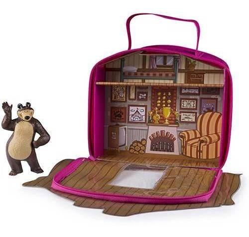 masha e o urso maleta casa do urso de vinil com personagem