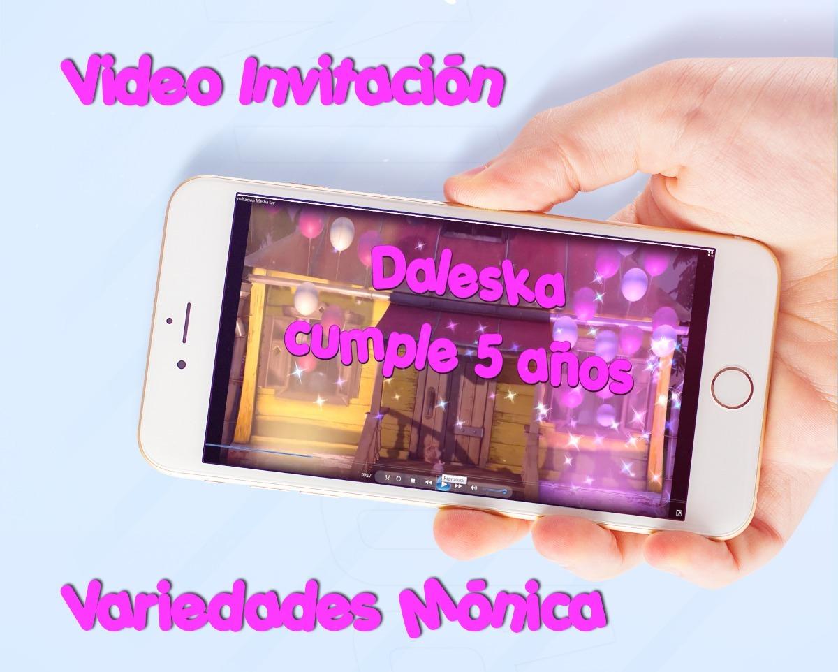 Masha Y El Oso Tarjeta De Invitación Digital Vídeo Animado