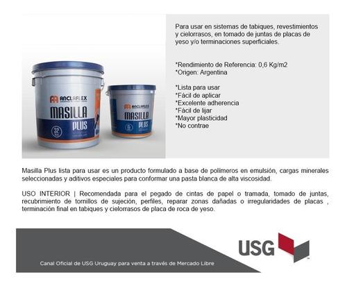 masilla lista para usar - anclaflex - balde x 28kg promocion