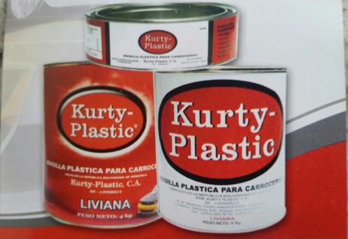 masilla plástica con catalizador kurty plastic  1gl.