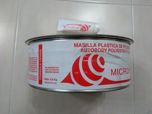 masilla plástica de poliéster microflex 1/4