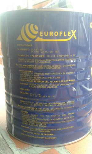 masilla plástica euroflex  / plastico de galón 25 americans