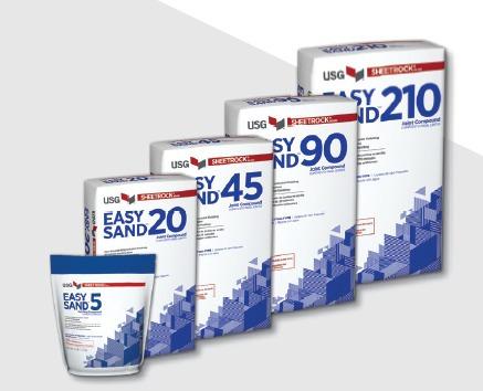 masilla rápida y lijado fácil - sheetrock® easy sand® 90 min
