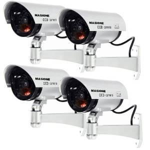 masione 4 paquete de falsa exterior cámara / dummy seguridad