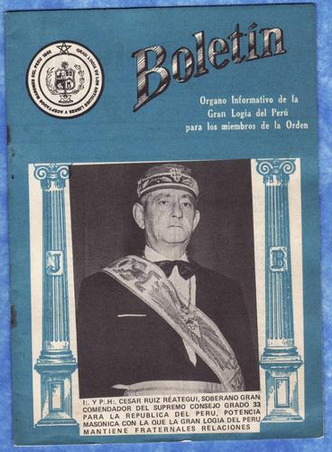 mason - boletin gran logia del peru - enero 1977