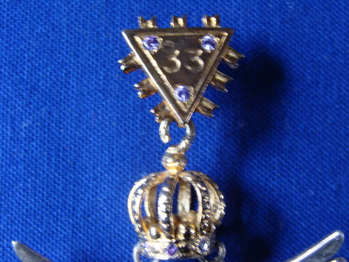 mason joya de grado 33 en plata 925 con baño en oro