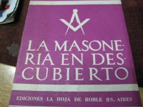 masoneria - masones - masoneria en descubierto