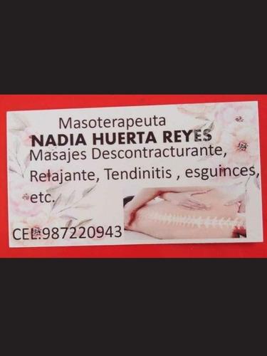 masoterapeuta clínica a domicilio