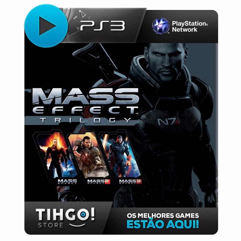 Mass Effect 1 2 3 - Trilogia Hd [3 Em 1] - Ps3 Cod Psn