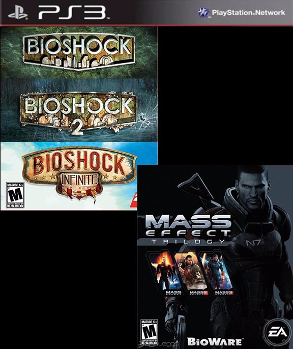 mass effect + bioshock collection ps3 digital