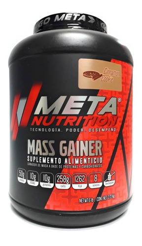 mass gainer 6 lbs meta nutrition varios sabores envío full