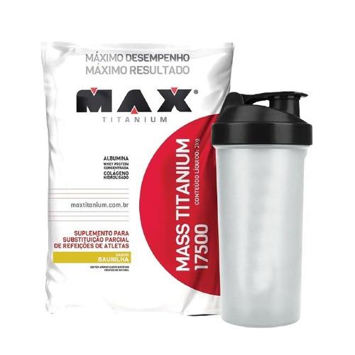 mass titanium 3kg + coqueteleira - max titanium