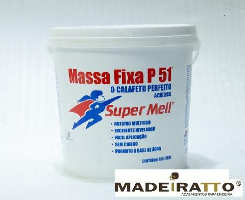 massa acrílica p/ madeira p51 - marfim  - 3,6kg