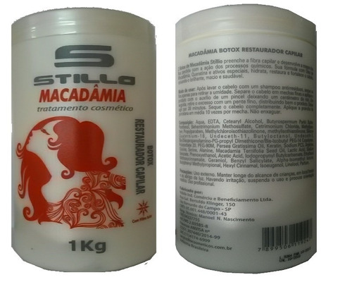 massa bottox macadamia hidrata alisa plastifica stillo 1kilo