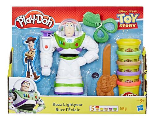 massa de modelar - play-doh - disney - toy story 4 - buzz li