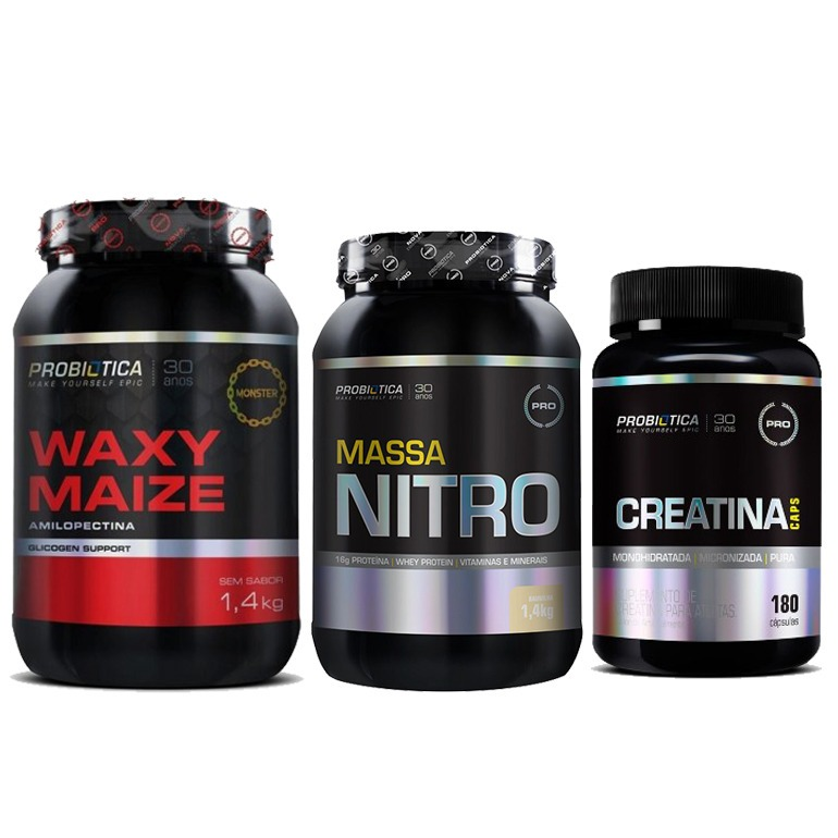 c5018c2e6 Ganhar Peso Massa Muscular Engordar Nitro + Waxy + Creatina - R  198 ...