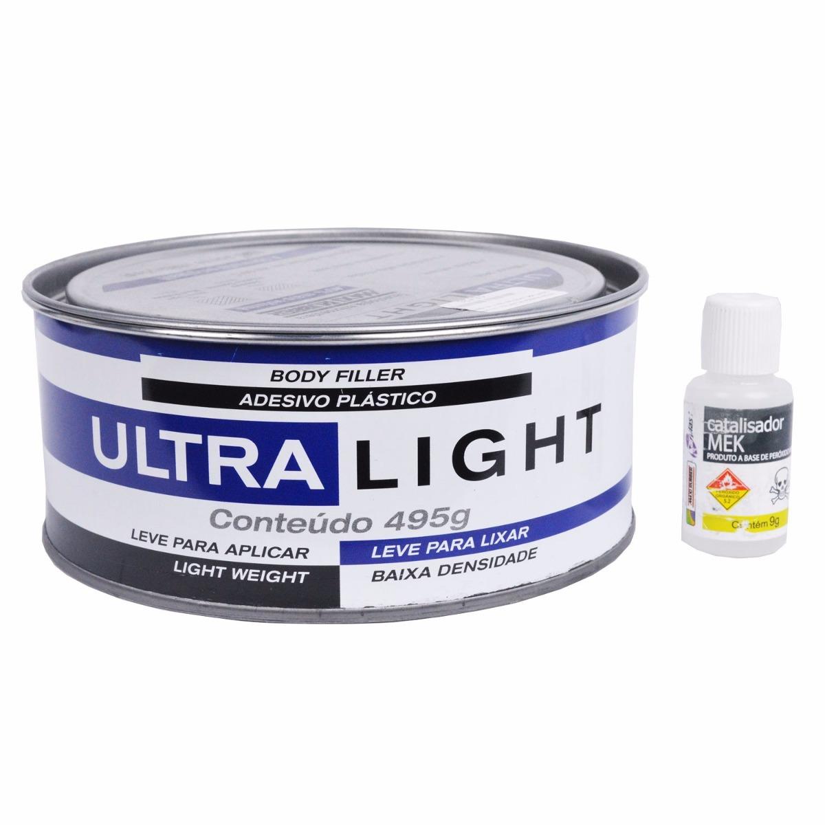 Armario Ferramentas Marcon ~ Massa Plastica Automotiva Adesivo Ultra Light Maxi Rubber R$ 10,50 em Mercado Livre