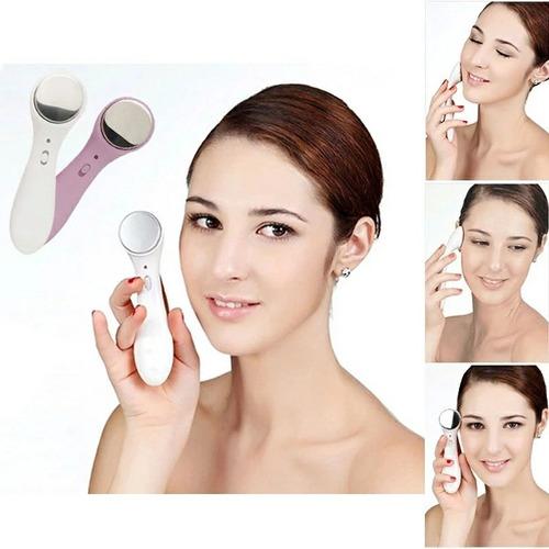 massageador anti rugas facial/corpo ultrassom ions pos. neg
