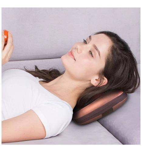 massageador de pescoço e lombar shiatsu c/ infra e veicular