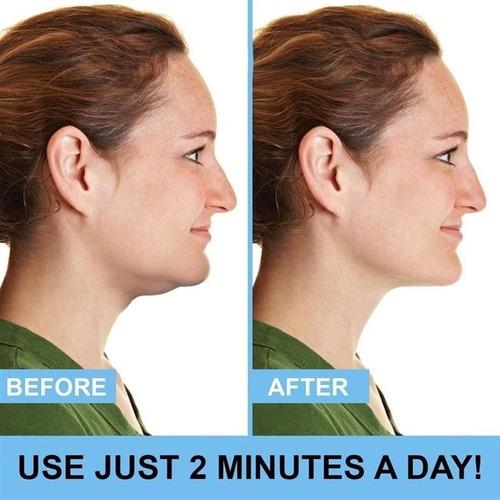 massageador de pescoco facial redutor tira papada aparelho