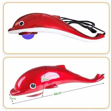 massageador elétrico corporal golfinho infravermelho 110v