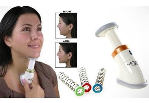 massageador facial redutor tira papada exercicios com 3 mola