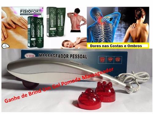 massageador infra vermelho ydh0732 tubarão massagem + brinde