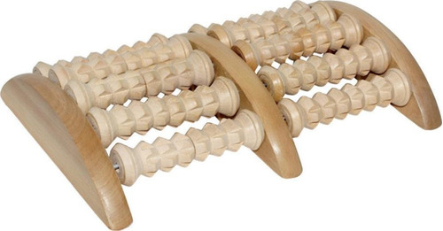 massageador para os pés em madeira toque reflexo