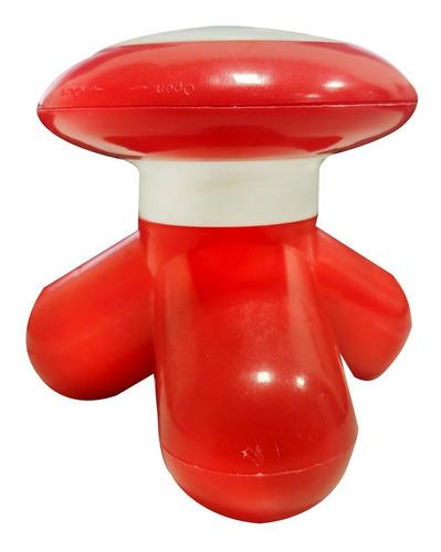 massageador portátil para pés costas mimo xy3199 vermelho